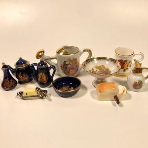 Vintage Limoges Miniature Porcelain Dishes